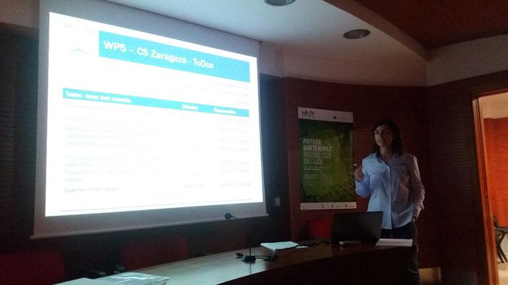 Presentazione dell'area dimostrativa di Saragozza