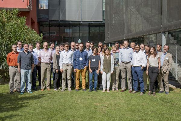 Il team del progetto europeo BUILDHEAT composto da 18 partner e coordinato dal Centro di Ricerca EURAC