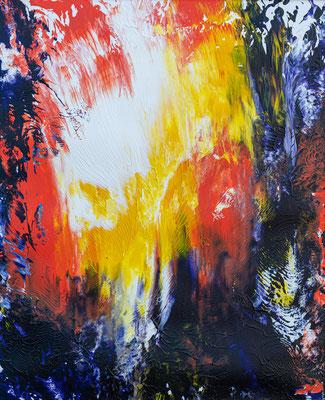 """""""Fire I"""", Acryl auf Karton, 49x59 cm"""