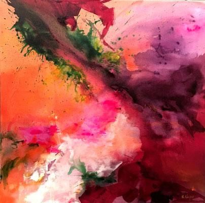 """Pure Emotion"", Acryl auf Leinwand, 70 x 70 cm"