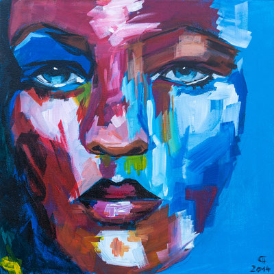 """Kate M. I"", Acryl auf Leinwand, 50x50 cm"