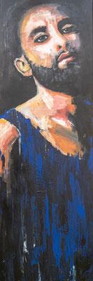 """""""Tom N."""", Acryl auf Leinwand, 50x100 cm"""