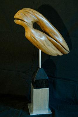 """Nr. 12 / JOSEF GRUNWALD / """"Nightmare"""", Skupltur, Holz der Ulme (Rüster), ca. 65 cm, 370,-€"""