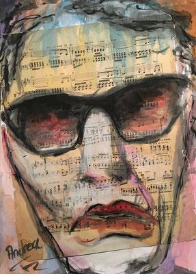 """""""FACE 3"""", Aquarell auf Papier, 30 x 40 cm"""