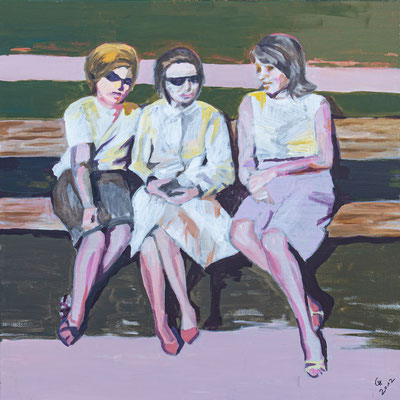 """""""Girlfriends"""", Acryl auf Leinwand, 70x70 cm"""
