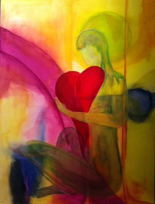 """Be carefull with myself"", Acryl auf Leinwand, 60 x 80 cm"