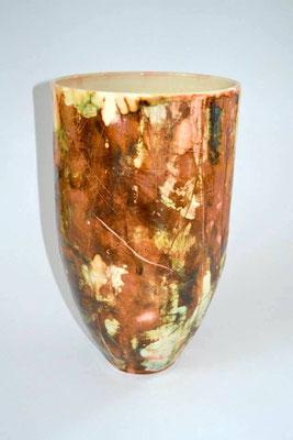 Vase in Keramik, Höhe 45 cm, Durchmesser 22 cm