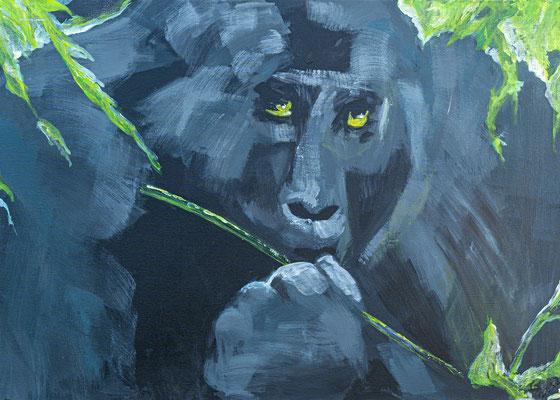 """Gorilla"", Acryl auf Leinwand, 70x50 cm"