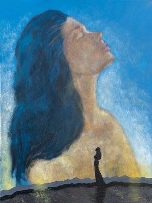 """""""Delilah"""", Acryl auf Leinen, 60x80 cm"""