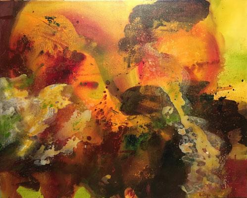 """Tango at midnight"", Acryl auf Leinwand, 100 x 80 cm"