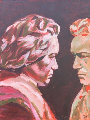 """Beethoven begegnen"", Acryl auf Leinwand, 60x80 cm"