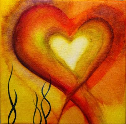 """Herzensangelegenheiten 1"", Acryl auf Leinwand, 20 x 20 cm"