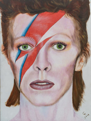 """""""David Bowie"""", Acryl auf Leinwand, 60x80 cm"""
