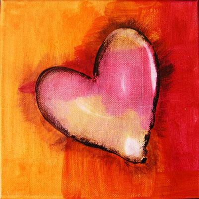 """Herzensangelegenheiten 2"", Acryl auf Leinwand, 20 x 20 cm"
