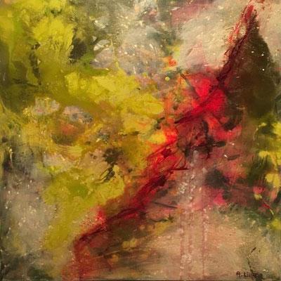 """""""In the garden of passions"""", Acryl-Mischtechnik auf Leinwand, 70 x 70 cm"""