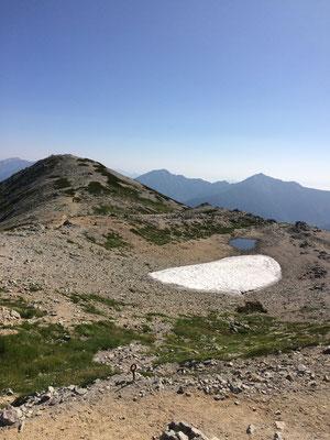 北別山と硯が池