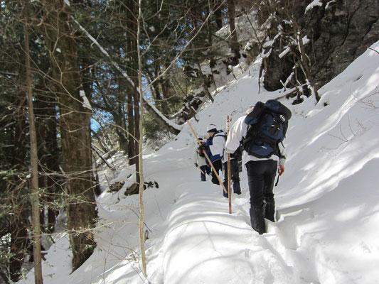 清滝へ向かう山道