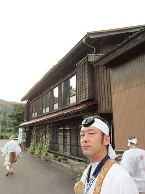 永井旅館と行者さん