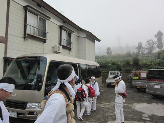 登拝当日の上村屋旅館にて