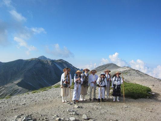 真砂岳にて記念撮影