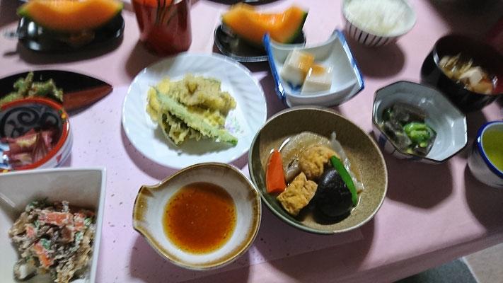 上村屋さんの夕食