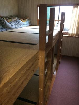二段ベッドで6名で使用