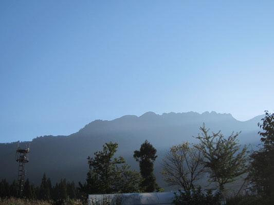 22日朝の八海山