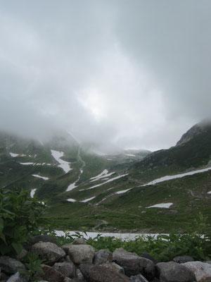 雪渓が多いです