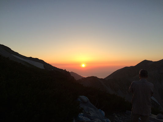 山荘からの夕日