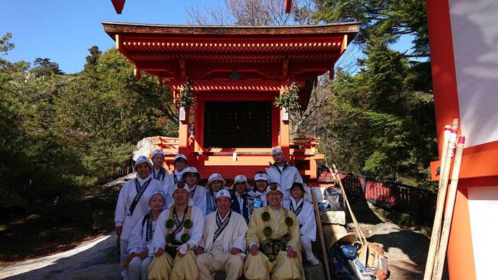 弥山 御山神社にて