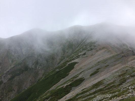 29日の別山方面を望む