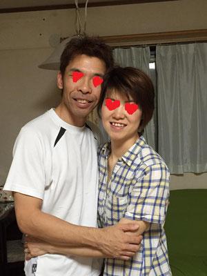 行が終わって夫婦も円満です!!