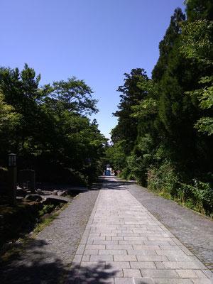 大山寺からの参道