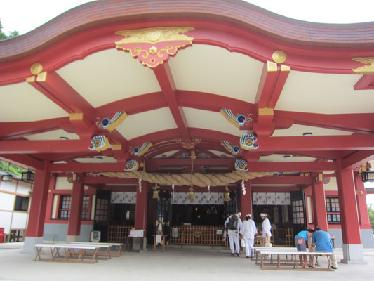 きれいになった石鎚神社