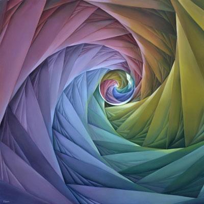 LA CASA DEL ALUX. Óleo sobre tela. 100 x 100 cm. Jorge Luna.