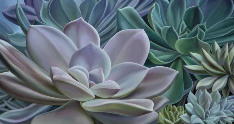 ESTRELLAS FLEXIBLES. Óleo sobre tela, 80 x 150 cm. Jorge Luna.