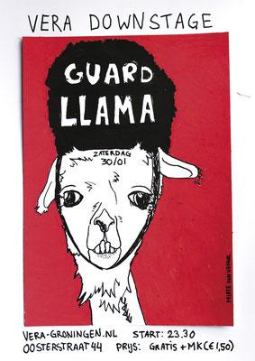Poster Guard Llama Vera Groningen