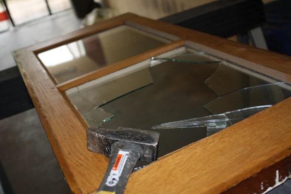 Réparation vitre cassée sur mesure