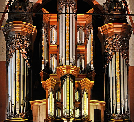 Prospekt der Orgel in St. Michaelis