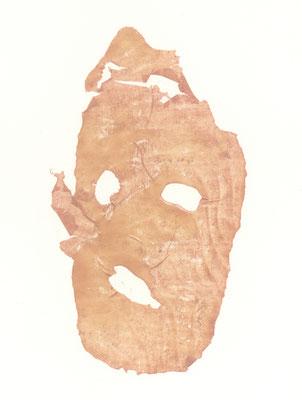 Untitled|37×27cm|2008|craft glue,oil ink,paper