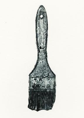 Untitled • brush|20.5×5.5cm|2019|oil ink,paper