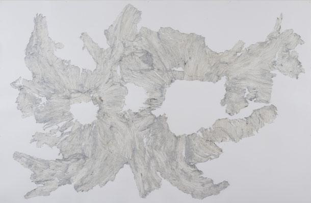 Skin of Tree 22|197×300cm|2015|craft glue,oil ink,paper