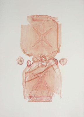 Untitled • Pory tank|158×115cm|2008|craft glue,oil ink,paper