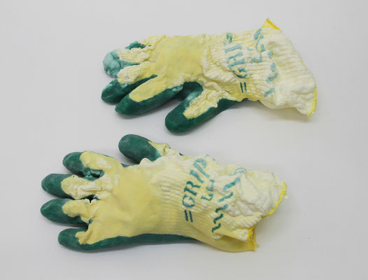 Untitled • Rubber Gloves|7×30×16cm|2009|puff binder,dyestuff,others