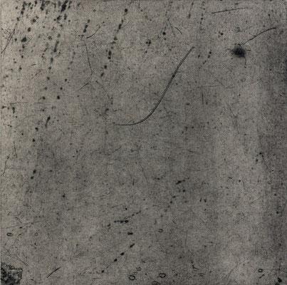 Untitled • floor tile 04|30.5×30.5cm|2016|oil ink, ganpi paper,paper