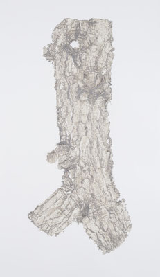 Skin of Tree 21|128×73.5cm|2015|craft glue,oil ink,paper