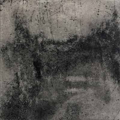 Untitled • floor tile 02|30.5×30.5cm|2016|oil ink, ganpi paper,paper