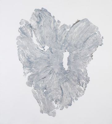 Skin of Tree 07|168×152cm|2015|craft glue,oil ink,paper