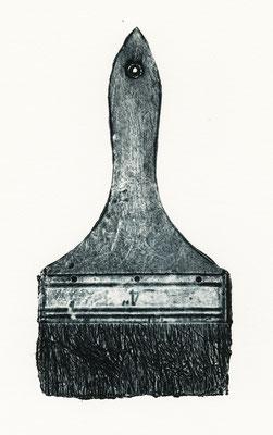 Untitled • brush|20×10.5cm|2019|oil ink,paper