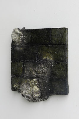 Untitled ・ Part of the wall 02|37×30×5cm|2019|puff binder,dyestuff,others